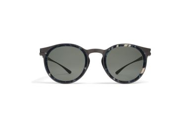 Mykita Damir Doma - DD2.2 [Darkgrey/Marblegrey]. Features contrasting materials and aesthetics of an openly displayed construction, the DD2.2's defining design elements. The combination of stainless steel and acetate creates both a visual and haptic contrast: a panto-shaped metal frame with marble grey, crystal-clear limpid or black acetate rims, with grey lenses with 100% U.V. protection. Handmade in Berlin.