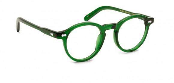 Moscot Originals – Miltzen [Emerald]. Features acetate with exposed hardware, keyhole bridge and 3-barrel hinge.