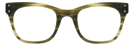 Moscot Originals - Baba [Olive Tortoise]. Features acetate with three dot rivets on front and temples, saddle bridge and 7-barrel hinge.