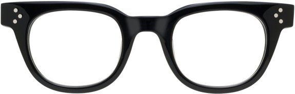 Moscot Originals - Vilda [Black]. Features acetate with authentic library temples, three dot rivets on front and temples, saddle bridge and 7-barrel hinge.
