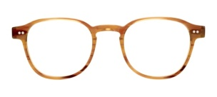 Moscot Spirit – Arthur [Blonde]. Features acetate with two dot rivets on front and temples, keyhole bridge, 3-barrel hinge and signature brass end caps. Based on the bestselling Lemtosh silhouette, but with a thinner gauge.
