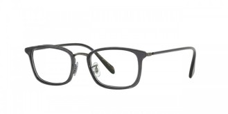 Oliver Peoples Brandt [OV1210; Coal/Matte Black]. Features acetate in metal filigree featuring ultra-thin temples, vintage-inspired custom filigree pattern along front eyewire, durable three-barrel hinge, and custom Oliver Peoples logo-engraved corewire reinforces integrity of the frame, allowing for long-lasting adjustments.