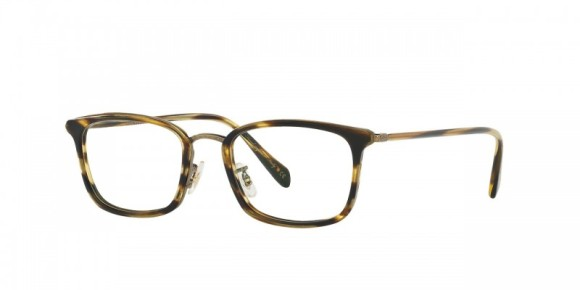 Oliver Peoples Brandt [OV1210; Semi-Matte Cocobolo/Antique Gold ]. Features acetate in metal filigree featuring ultra-thin temples, vintage-inspired custom filigree pattern along front eyewire, durable three-barrel hinge, and custom Oliver Peoples logo-engraved corewire reinforces integrity of the frame, allowing for long-lasting adjustments.