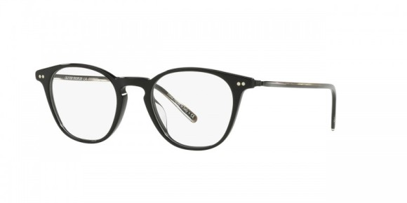 30th Anniversary Special! Oliver Peoples Hanks [OV5316F; Black]. Features new temple design that exposes a feathered pattern core-wire created specifically for the 30th Anniversary, hand-laid functional pins for double adherence between frame front and hinge for additional strength and durability, durable hree-barrel hinge, and custom Oliver Peoples logo-engraved corewire reinforces integrity of the frame, allowing for long-lasting adjustments. Vintage-inspired optical frame with a deeper lens shape provides a classic look.