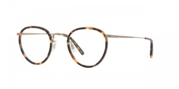 Oliver Peoples MP-2 [OV1104; Pewter]. Features handcrafted acetate and metal, and custom engraved filigree detail.