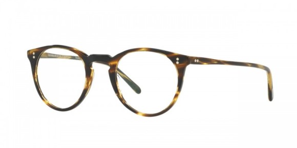 Oliver Peoples O'Malley [OV5183A; Cocobolo]. Features handcrafted layers of custom designed, exclusive acetate that results in the unique pattern of each individual frame, hand-laid functional pins for double adherence between frame front and hinge to ensure ultimate strength and durability, substantial five-barrel hinge, and custom Oliver Peoples logo-engraved corewire reinforces integrity of the frame, allowing for long-lasting adjustments.