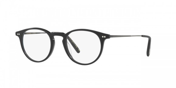 30th Anniversary Special! Oliver Peoples Ryerson [OV5362F; Semi-Matte Black/Black]. Features new temple design that exposes a feathered pattern core-wire created specifically for the 30th Anniversary, hand-laid functional pins for double adherence between frame front and hinge for additional strength and durability, durable hree-barrel hinge, and custom Oliver Peoples logo-engraved corewire reinforces integrity of the frame, allowing for long-lasting adjustments. Vintage-inspired P-3 lens shape offers a classic look, while layers of custom designed acetate in exclusive colors result in the unique pattern of each individual frame.