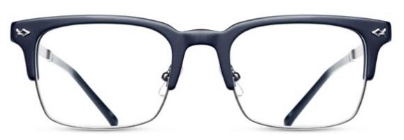 Matsuda - M2021 [Matte Navy/Antique Silver]. Features hand-finished Japanese acetate and engraved titanium temples. The Essential Optical Collection features new designs drawing upon classic Matsuda details of pure titanium, premium Japanese acetate, exquisite craftsmanship and impeccable attention to detail.