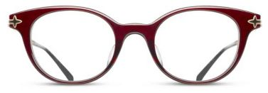 Matsuda - M2022 [Bordeaux Rose Gold]. Features hand-finished Japanese acetate and engraved titanium temples. The Essential Optical Collection features new designs drawing upon classic Matsuda details of pure titanium, premium Japanese acetate, exquisite craftsmanship and impeccable attention to detail.