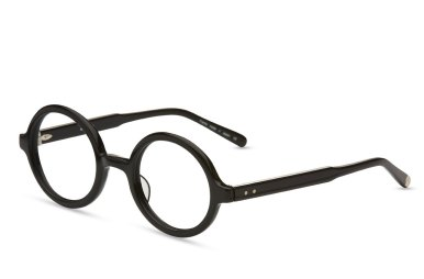 Matsuda – F1005 [Smooth Black]. Features hand-finished Japanese acetate with five-barrel riveted hinge.
