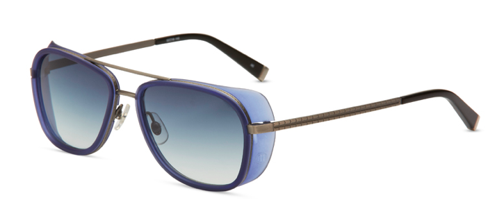 9bf5afd7bdf ... aviator sunglasses a new lift. M3023 - Antique Silver and Cobalt Blue  with Gray Gradient Lenses