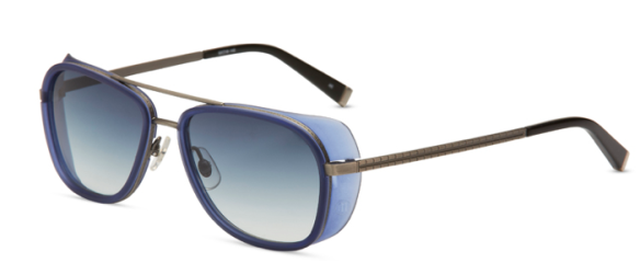 M3023 - Antique Silver and Cobalt Blue with Gray Gradient Lenses