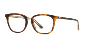 Christian Dior – Montaigne 35 [Havana Crystal]. Features classic vintage shape with crystal temples and the iconic Dior oval rivet.