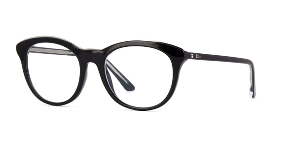 Christian Dior - Montaigne 41 [Black Crystal]. Features subtle round shape and the iconic Dior oval rivet.
