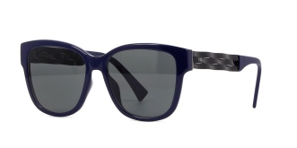 Christian Dior - DiorRibbon [Blue/Black/Grey]. Features classic acetate front; intricately and delicately braided temples; and grey lenses with 100% U.V. protection.