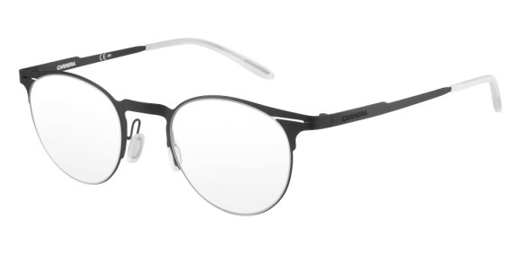 Carrera - CA6659 [Black]. Features super thin frame developed to provide a lightweight experience for all-day comfort and a contemporary look. Part of the Maverick Collection for #OutThere characters, the design is centered around the iconic silhouette N.02, with a reversed curved bridge from the Original Boeing Carrera Collection. The 0.7 mm laser cut stainless steel frames are complemented with a laser etching logo on the temple.