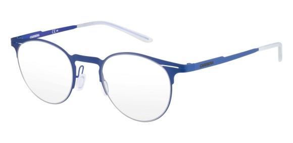 Carrera – CA6659 [Blue]. Features super thin frame developed to provide a lightweight experience for all-day comfort and a contemporary look. Part of the Maverick Collection for #OutThere characters, the design is centered around the iconic silhouette N.02, with a reversed curved bridge from the Original Boeing Carrera Collection. The 0.7 mm laser cut stainless steel frames are complemented with a laser etching logo on the temple.
