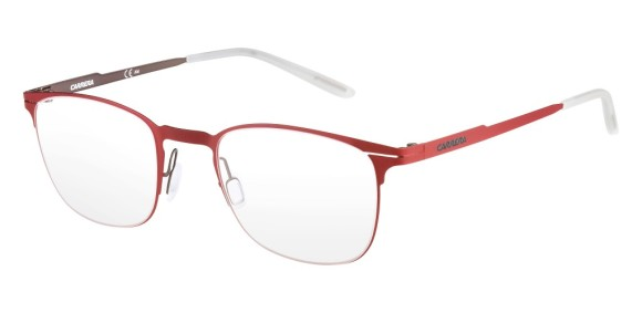 Carrera - CA6660 [Red]. Features super thin frame developed to provide a lightweight experience for all-day comfort and a contemporary look. Part of the Maverick Collection for #OutThere characters, the design is centered around the iconic silhouette N.02, with a reversed curved bridge from the Original Boeing Carrera Collection. The 0.7 mm laser cut stainless steel frames are complemented with a laser etching logo on the temple.