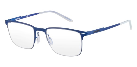 Carrera - CA6661 [Blue]. Features super thin frame developed to provide a lightweight experience for all-day comfort and a contemporary look. Part of the Maverick Collection for #OutThere characters, the design is centered around the iconic silhouette N.02, with a reversed curved bridge from the Original Boeing Carrera Collection. The 0.7 mm laser cut stainless steel frames are complemented with a laser etching logo on the temple.