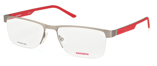 Carrera - CA8817 [Matte Ruthenium/Red]: Features classic design refined by technology for the perfect combination of style and functionality for an outdoors lifestyle. Part of the Timeless Active collection.