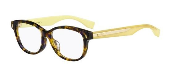 Fendi – FF0127 [Brown Marble Yellow]. Features fine handmade acetate in distinctive hues as only Fendi can dream up, and a gorgeous havana mix.