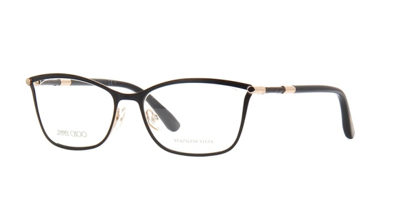 Jimmy Choo - JC134 [Black Rose Gold]: Features exquisite trim on the temples and a sublime sexy shape cut in delicate stainless steel.