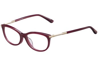 Jimmy Choo - JC157 [Burgundy]: Features signature exquisite trim on the temples and a sublime cat-eye shape in acetate.