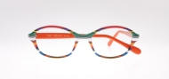 Wissing [2843/1456/3019]. Features curvaceous rectangular shape in orange-themed iconic stripe combination.