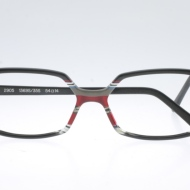 Wissing [2905/1369S/35S]. Features subtle rectangular shape with classy black/grey/red/white iconic stripe combination.